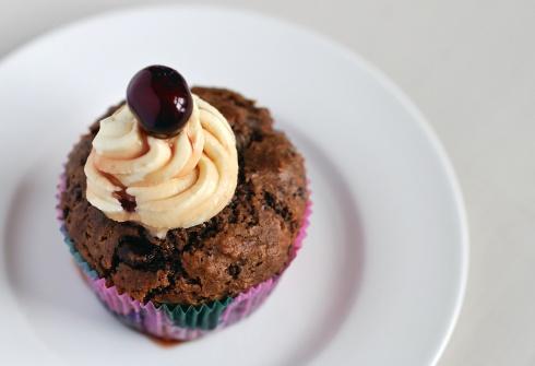 Amarenakirsch-Cupcakes